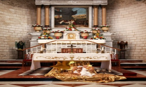 Zdjęcie IZRAEL / Nazaret / Kefar-Kana, czyli Kana Galilejska / Kościół Wesela - ołtarz