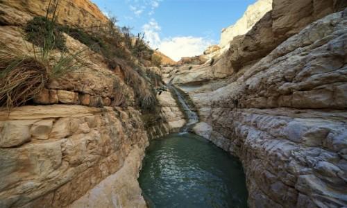 Zdjęcie IZRAEL / Morze Martwe / Ein Gedi / Wielka misa z wodospadem