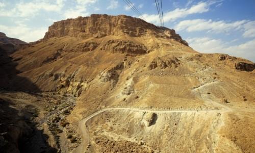 Zdjęcie IZRAEL / Morze Martwe / Twierdza Masada / Można pieszo, można też kolejką