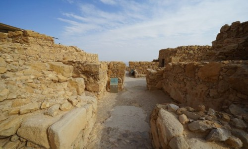 Zdjecie IZRAEL / Morze Martwe / Masada / Rezydencja komendanta, ruiny
