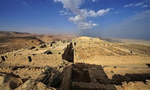 IZRAEL / Morze Martwe / Masada / Ruiny twierdzy