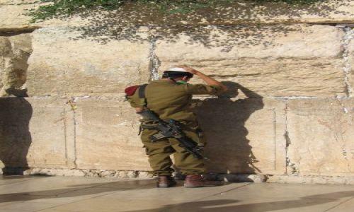 Zdjecie IZRAEL / Jerozolima / pod Ścianą Płaczu / Przerwa w służbie