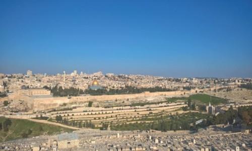 IZRAEL / stolica / Jerozolima / Jerozolima - widok z Góry Oliwnej