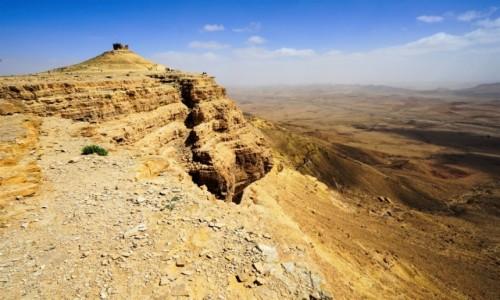 IZRAEL / Pustynia Negev / Mitzpe Ramon / Widok na krater