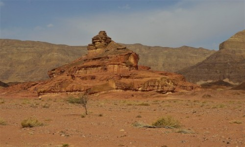 IZRAEL / Negev / Timna Park / Spiralna skała