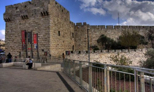IZRAEL / Jerozolima / brama Jafy / Izrael brama Jafy