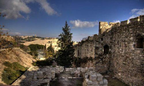 IZRAEL / Jerozolima / Stare Miasto / Widok na Wzgórze Oliwne ze starego miasta