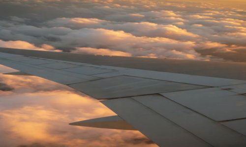 Zdjecie IZRAEL / - / lot nad Izraelem / w chmurach