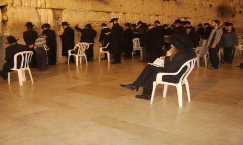 IZRAEL / Jerozolima / W mieście / Ściana płaczu strona męska