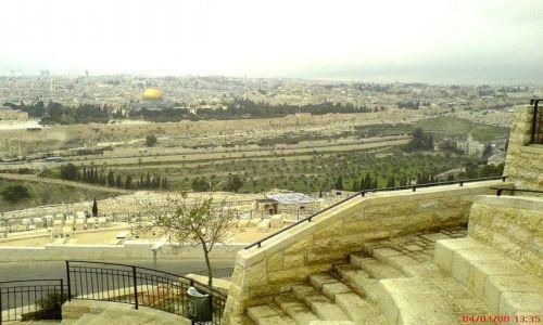 Zdjecie IZRAEL / Jerozolima / Jerozolima / panorama Jerozolimy z Góry Oliwnej