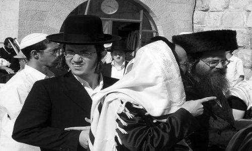 Zdjęcie IZRAEL / brak / Jerozolima / o czym oni mówią...?