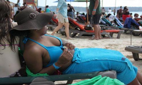 Zdjęcie JAMAJKA / Negril / Negril Beach / relaks na plaży