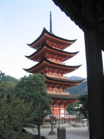 Zdjęcia: Miyajima, Pagoda Tahoto, JAPONIA