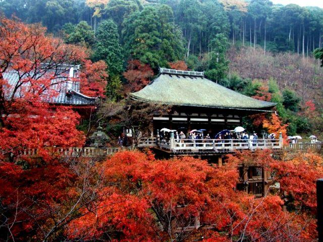 Zdjęcia: Świątynia Kiyomizudera, Kioto, Jesien, JAPONIA