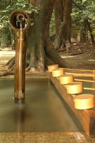 Zdjęcia: Ogród Meiji Jingu, Tokyo, studnia, JAPONIA