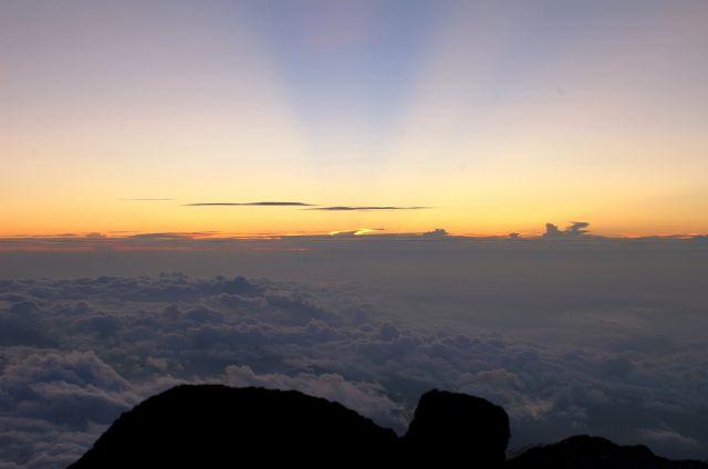 Zdjęcia: Fuji San, a za chwile wschód Słońca, JAPONIA