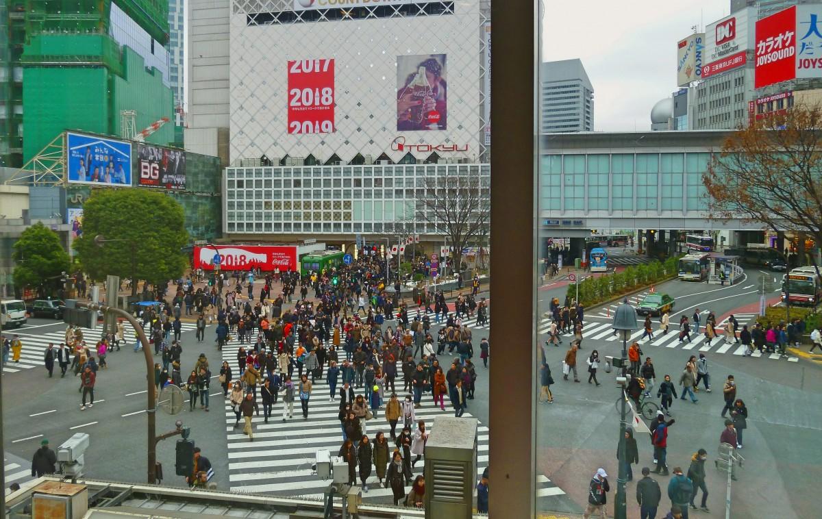 Zdjęcia: Shibuya, Tokio, Prawdziwe skrzyżowanie, JAPONIA