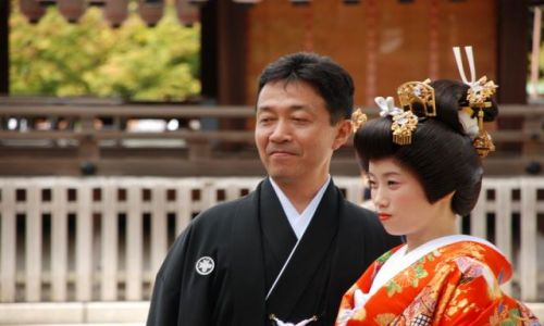 Zdj�cie JAPONIA / Honsiu / Kyoto / Japonski slub