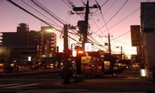 Zdjecie JAPONIA / Tokio  / Ginza / wielosc kablowa