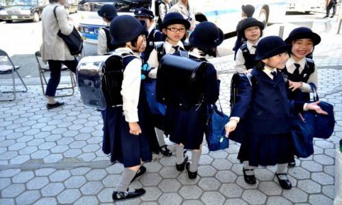 Zdjęcie JAPONIA / Honsiu / Kamakura / japanese children