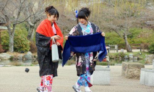 Zdjecie JAPONIA / - / Park w Kioto / Japoneczki