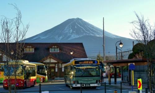 Zdjęcie JAPONIA / Fuji Five Lakes / Kawaguchiko / Na dworcu w Kawaguchiko