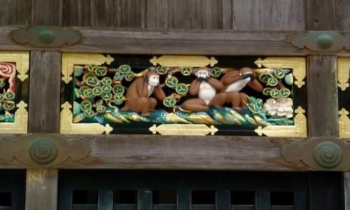 Zdjecie JAPONIA / Nikko / Świątynia Toshogu / NIE WIDZĘ ZŁA, NIE SŁYSZĘ ZŁA, NIE MÓWIĘ NIC ZŁEGO