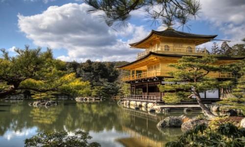 Zdjecie JAPONIA / Honsiu / Kyoto / Rokuon-ji (Złoty Pawilon)
