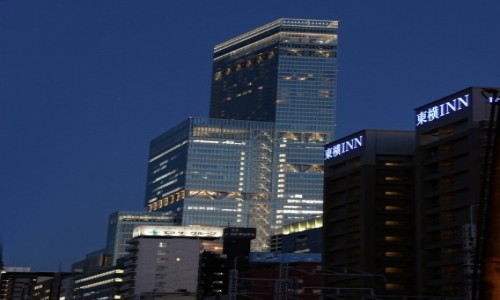 Zdjecie JAPONIA / Honsiu / Osaka / Abeno Harukas nocą