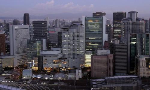 Zdjecie JAPONIA / Honsiu / Osaka / Na dachu świata