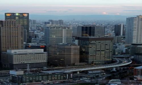 Zdjecie JAPONIA / Honsiu / Osaka / Między drapaczami