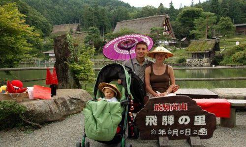 Zdjecie JAPONIA / Hida / Takayama / Autor z rodziną