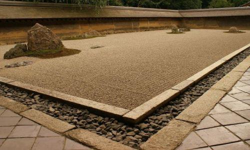 Zdjecie JAPONIA / Kyoto / Stone Garden / Kamienny ogród