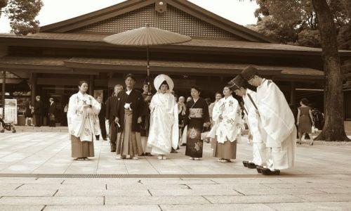 Zdjecie JAPONIA / brak / Meiji Jingu, Tokyo / orszak ślubny