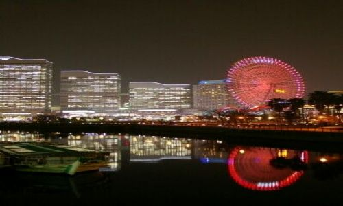 Zdjecie JAPONIA / Yokohama / dzielnica Minato Mirai 21 / barka