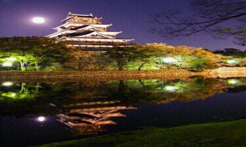 Zdjecie JAPONIA / Hiroshima / zamek w Hiroshimie / lustro