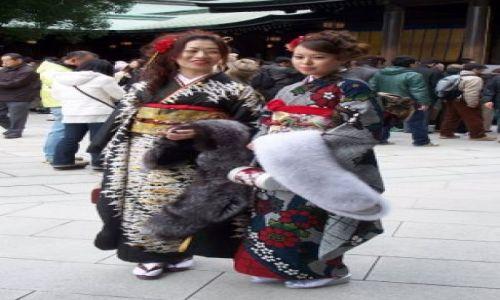 Zdjecie JAPONIA / Tokio / Meiji Shrine / Kimono Girls