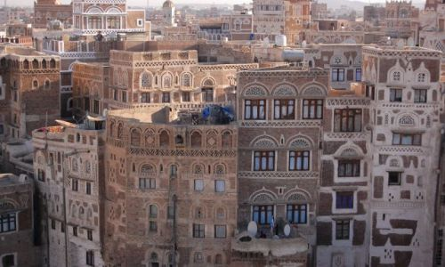 Zdjęcie JEMEN / Sana / Sana / Miasto z piernika