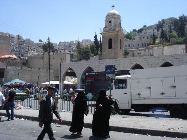Zdjęcia: Amman, dwie religie, JORDANIA