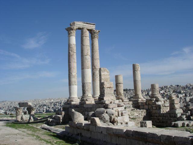 Zdjęcia: Amman, swiatynia Herkulesa, JORDANIA
