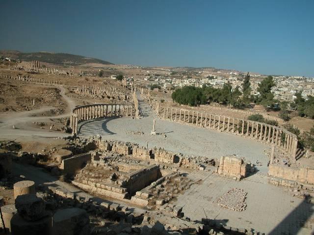 Zdjęcia: Jerash, Widok na starożytne miasto, JORDANIA