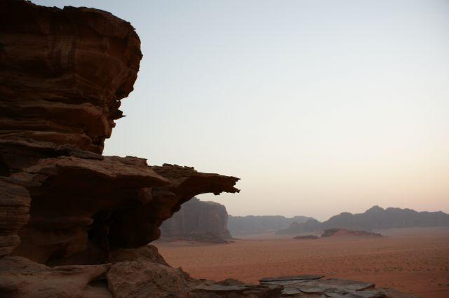 Zdjęcia: Wadi Ramm, tuz po zachodzie slonca..., JORDANIA
