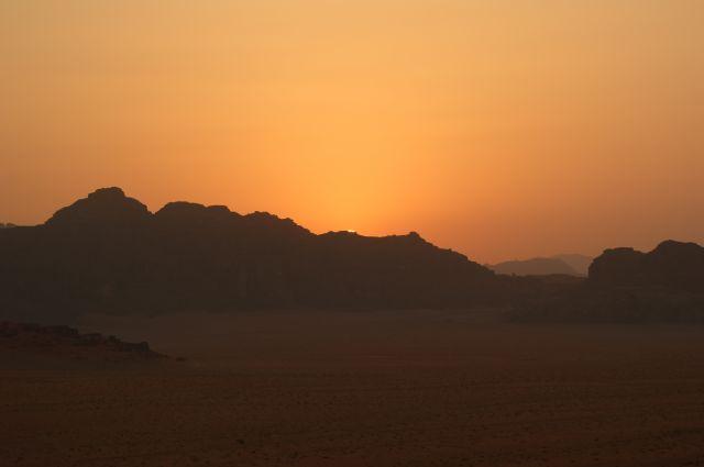 Zdjęcia: Wadi Ramm, tuż po zachodzie słońca, JORDANIA