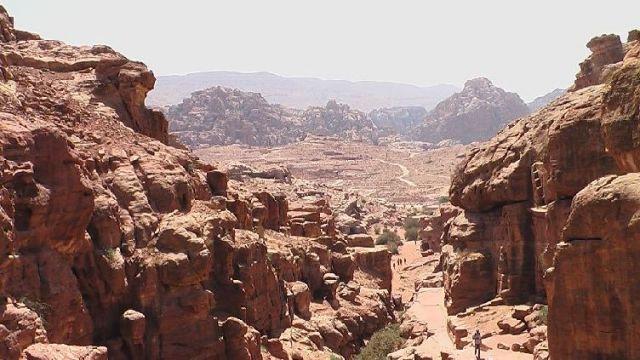 Zdjęcia: Petra, Petra, Panorama Petry, JORDANIA