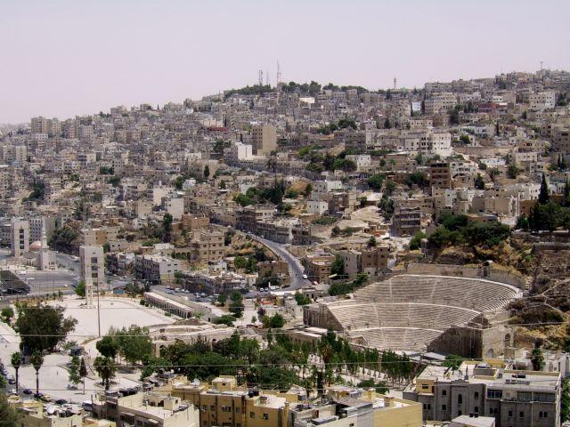 Zdjęcia: Amman, Panorama Ammanu, JORDANIA