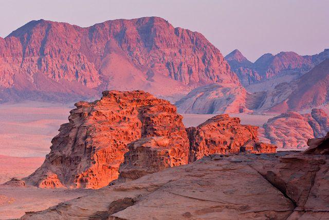 Zdjęcia: Wadi Rum, Zachód słońca na Wadi Rum, JORDANIA