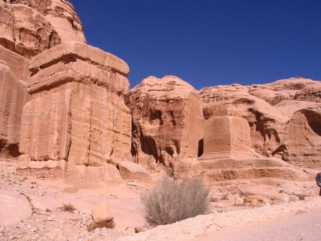 Zdjęcia:  Petra, płd-zach Jordania, w drodze do wąwozu, JORDANIA