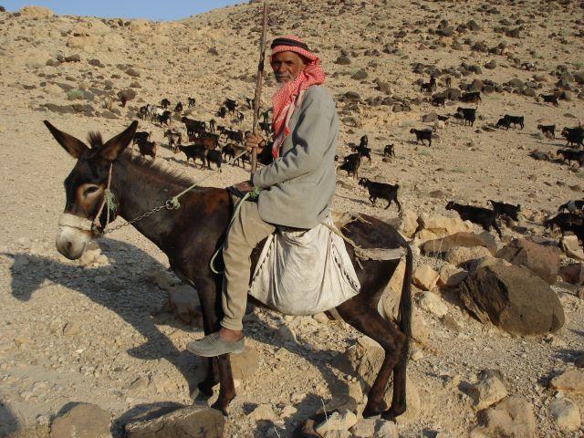 Zdj�cia: Vadi Mujib, Beduin z Vadi Mujib, JORDANIA