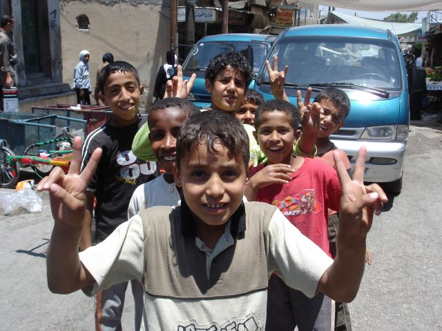 Zdj�cia: oboz uchodzcow palestynskich Baqa, victory, JORDANIA