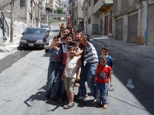Zdjęcia: Amman, jordanskie dzieciaki , JORDANIA